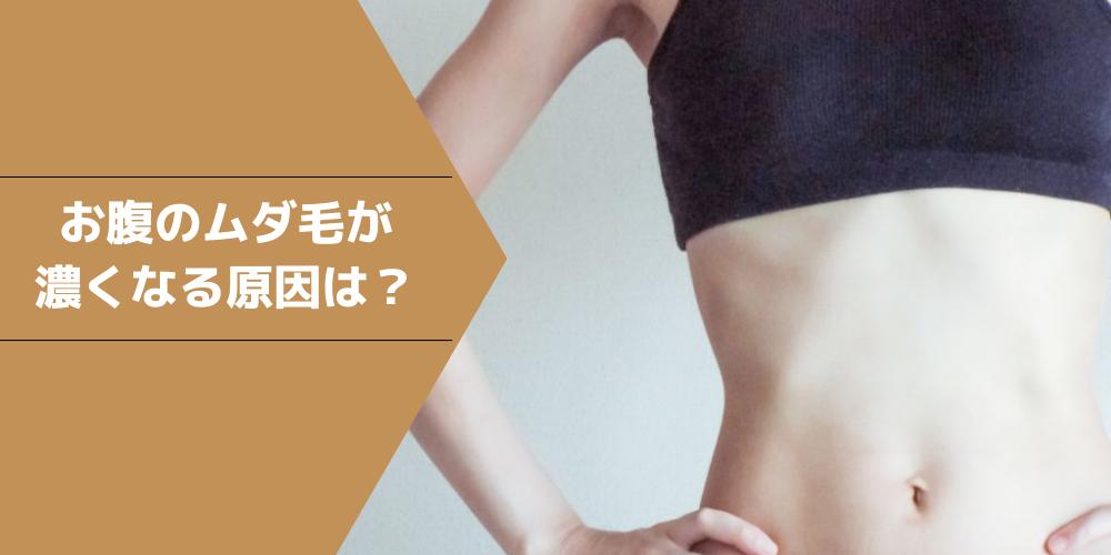 お腹の毛が濃いのはなぜ?理由や薄くする方法・処理方法を解説!